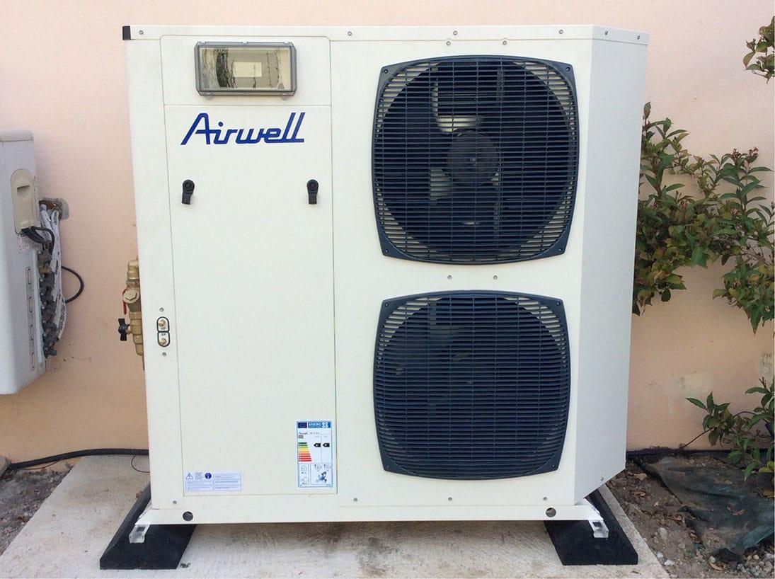 pompe à chaleur exterieur AIRWELL par Minoria Concept