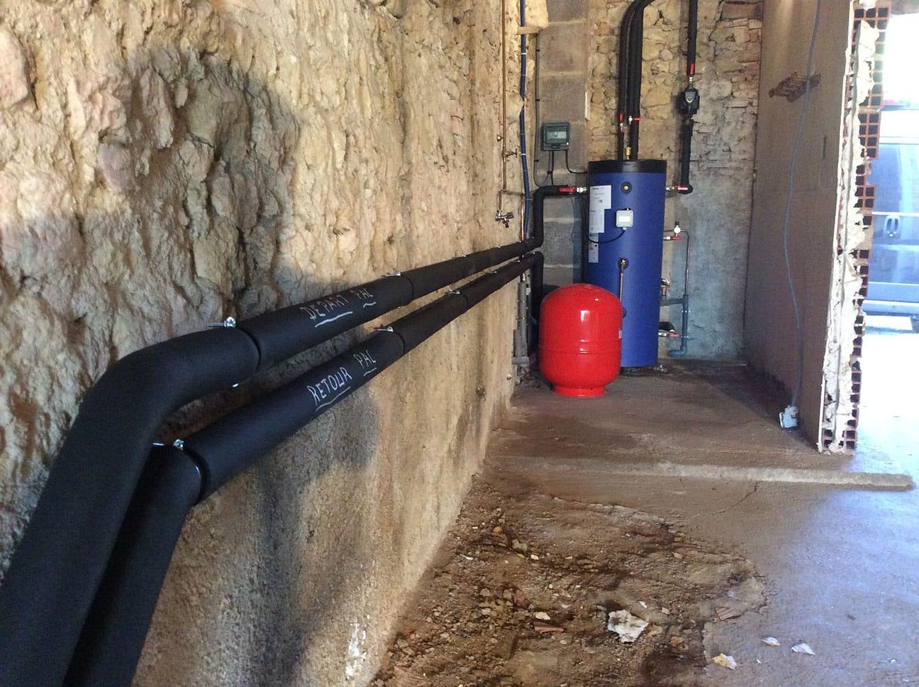 pompe à chaleur tuyaux